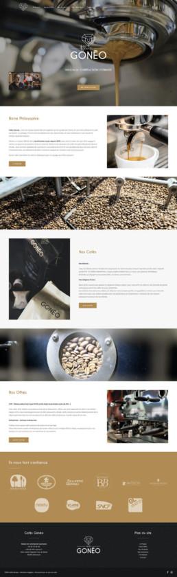 Création site web sur mesure Cafés Gonéo Lyon
