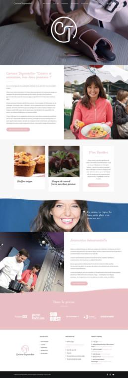 Site web sur mesure Carinne Teyssandier Lyon