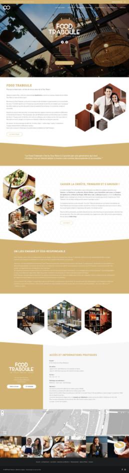 Site web sur mesure Food Traboule Lyon