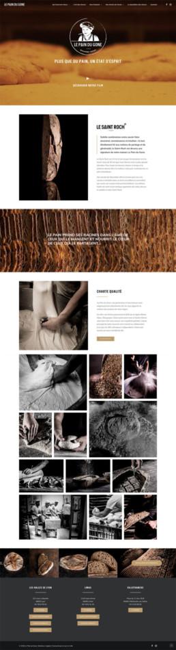 Création site web Le Pain du Gone Lyon
