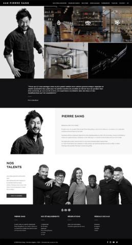 Création site web Pierre Sang Paris