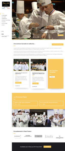 Création site web sur mesure Team France Bocuse d'Or